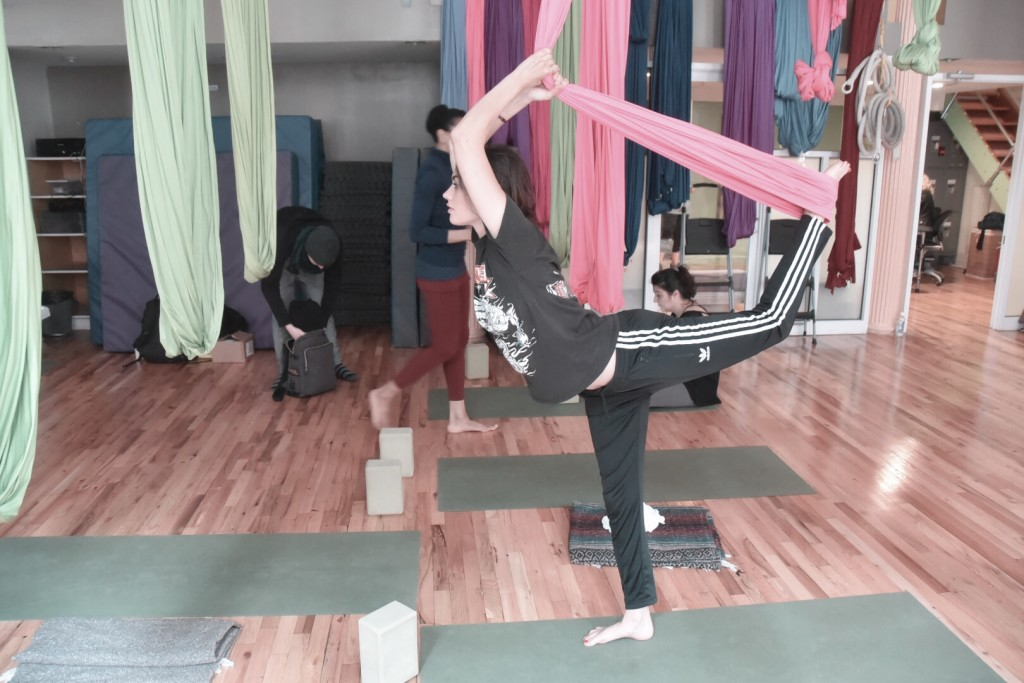 Yoga at OM factory